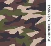 camouflage pattern background... | Shutterstock .eps vector #608970026