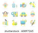 beautiful baby icons