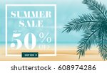 summer sale discount  end of... | Shutterstock .eps vector #608974286