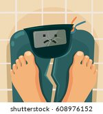 overweight people. broken... | Shutterstock .eps vector #608976152