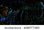 3d rendering particle or stars... | Shutterstock . vector #608977385