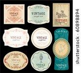 vintage label | Shutterstock .eps vector #60898894