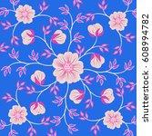 wedding card or invitation... | Shutterstock .eps vector #608994782