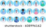 medical concept. different... | Shutterstock .eps vector #608996162