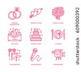 event agency  wedding... | Shutterstock .eps vector #609000392