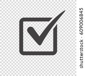 check mark icon on transparent... | Shutterstock .eps vector #609006845