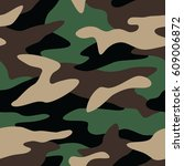 camouflage pattern background... | Shutterstock .eps vector #609006872