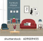 furniture. interior. living... | Shutterstock .eps vector #609009455