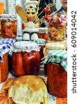 traditional serbian cuisine...   Shutterstock . vector #609014042