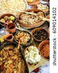 traditional serbian cuisine...   Shutterstock . vector #609014102