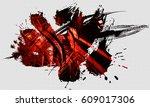 3d technology background | Shutterstock . vector #609017306