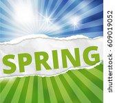 spring under torn    Shutterstock .eps vector #609019052