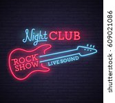 Rock Show Sign. Bright...
