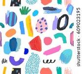 creative seamless pattern.... | Shutterstock .eps vector #609023195