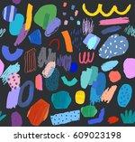 creative seamless pattern.... | Shutterstock .eps vector #609023198