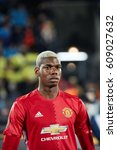 """Small photo of Paul Pogba before match 1/8 finals of the Europa League between FC """"Rostov"""" and """"Manchester United"""", 09 March 2017 in Rostov-on-Don, Russia."""