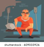 prisoner man character in... | Shutterstock .eps vector #609033926
