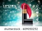 makeup ads template charming... | Shutterstock .eps vector #609050252