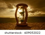 hourglass passing of time lapse ... | Shutterstock . vector #609052022