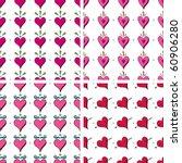 seamless heart doodle pattern | Shutterstock .eps vector #60906280