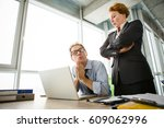 mobbing  stress  work  scandal... | Shutterstock . vector #609062996