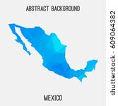 mexico map in geometric... | Shutterstock .eps vector #609064382