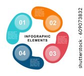 infographic circle template... | Shutterstock .eps vector #609073832