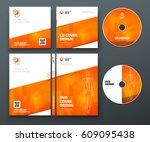 cd envelope  dvd case design.... | Shutterstock .eps vector #609095438