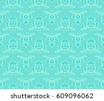 seamless pale turquoise... | Shutterstock .eps vector #609096062