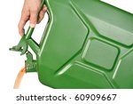 Hand With Green Jerrycan...