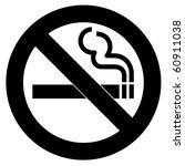 black symbol of no smoking zone | Shutterstock . vector #60911038