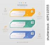 infographics design template... | Shutterstock .eps vector #609110555
