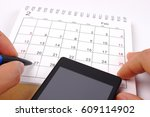 calendar on white background | Shutterstock . vector #609114902