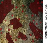 grunge bloodstains splats... | Shutterstock .eps vector #609114956