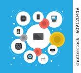 flat system unit  printing... | Shutterstock .eps vector #609120416
