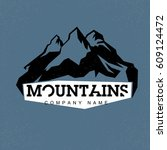 blue peaks. mountains... | Shutterstock .eps vector #609124472