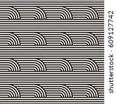 seamless geometric pattern.... | Shutterstock .eps vector #609127742