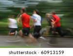 group of young runners in... | Shutterstock . vector #60913159