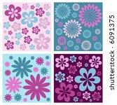 floral retro vector flower... | Shutterstock .eps vector #6091375