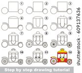 kid game to develop drawing...   Shutterstock .eps vector #609137636