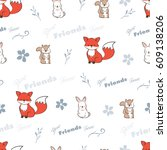 seamless background of best... | Shutterstock .eps vector #609138206