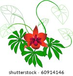 magical flower | Shutterstock .eps vector #60914146