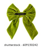 Green Hair Bow Isolated On A...