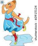 beautiful cat in blue dress on...   Shutterstock .eps vector #60915124
