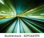 Green Background Of Train...