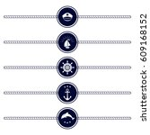 set of round maritime icons.... | Shutterstock .eps vector #609168152