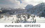 mount baker ski area aerial view | Shutterstock . vector #609185552