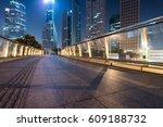 view of footbridge at night in... | Shutterstock . vector #609188732