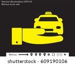 taxi  icon  vector illustration ... | Shutterstock .eps vector #609190106