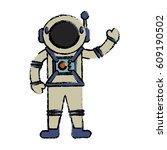 astronaut suit spaceman image | Shutterstock .eps vector #609190502